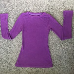 Purple thermal longsleeve shirt